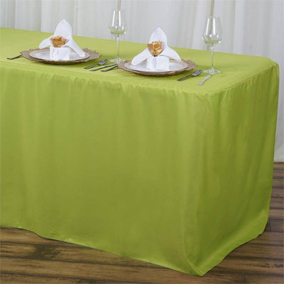 6FT Fitted SAGE Wholesale Polyester Table Cover Wedding Banquet Event Tablecloth