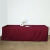 8FT Burgundy Fitted Polyester Rectangular Table Cover