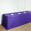 8FT Fitted PURPLE Wholesale Polyester Table Cover Wedding Banquet Event Tablecloth