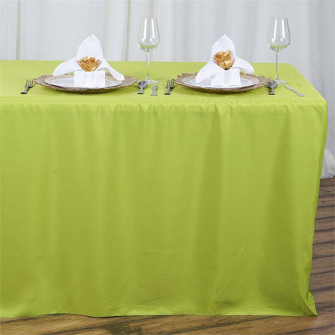 8ft Fitted Polyester Table Cover Sage Green Efavormart