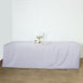 8FT White Fitted Polyester Rectangular Table Cover