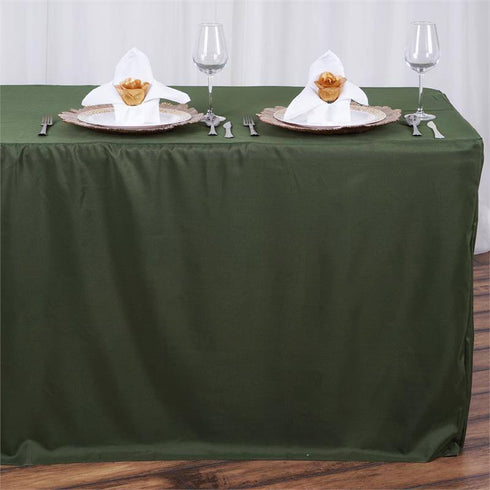 8FT Fitted MOSS/WILLOW Wholesale Polyester Table Cover Wedding Banquet Event Tablecloth
