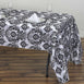 "60X126"" Flocking Damask Tablecloths"