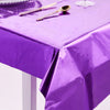 40 inch x 90 inch Purple Metallic Foil Rectangle Tablecloth, Disposable Table Cover#whtbkgd