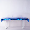 40x90 Inch | Royal Blue Metallic Foil Rectangle Tablecloth, Disposable Table Cover