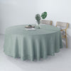 "108"" Dusty Blue Linen Round Tablecloth, Slubby Textured Wrinkle Resistant Tablecloth"