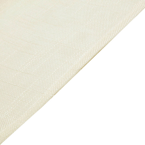 "108"" Ivory Linen Round Tablecloth, Slubby Textured Wrinkle Resistant Tablecloth"