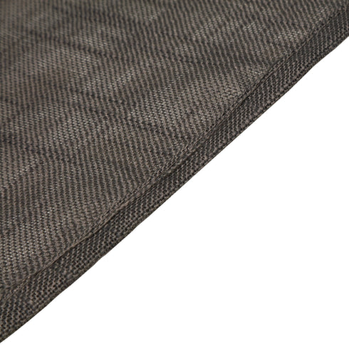 "120"" Charcoal Gray Linen Round Tablecloth, Slubby Textured Wrinkle Resistant Tablecloth"
