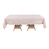 Rectangular Tablecloth, Slubby Textured Wrinkle Resistant Tablecloth - Rose Gold | Blush