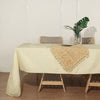 60x126 inch Ivory Premium Faux Linen Rectangular Tablecloth