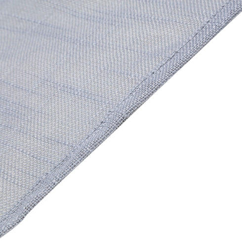 90x132 Silver Linen Rectangular Tablecloth, Slubby Textured Wrinkle Resistant Tablecloth