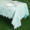 "60""x108"" Premium Lace Ivory Rectangular Oblong Tablecloth"