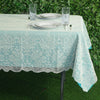 "60""x90"" Premium Lace Ivory Rectangular Oblong Tablecloth"
