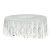 Lace Tablecloths, 108 inch Round Tablecloth, Ivory Tablecloths | eFavorMart