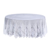 Lace Tablecloths, 108 inch Round Tablecloth, White Tablecloths | eFavorMart