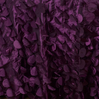 "120"" Eggplant Round Flamingo Petals Tablecloth For Wedding Banquet Restaurant"