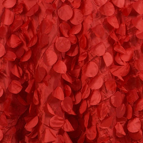 "120"" Red Round Flamingo Petals Tablecloth For Wedding Banquet Restaurant"