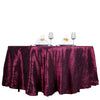 108 inches Burgundy Round Pintuck Tablecloth