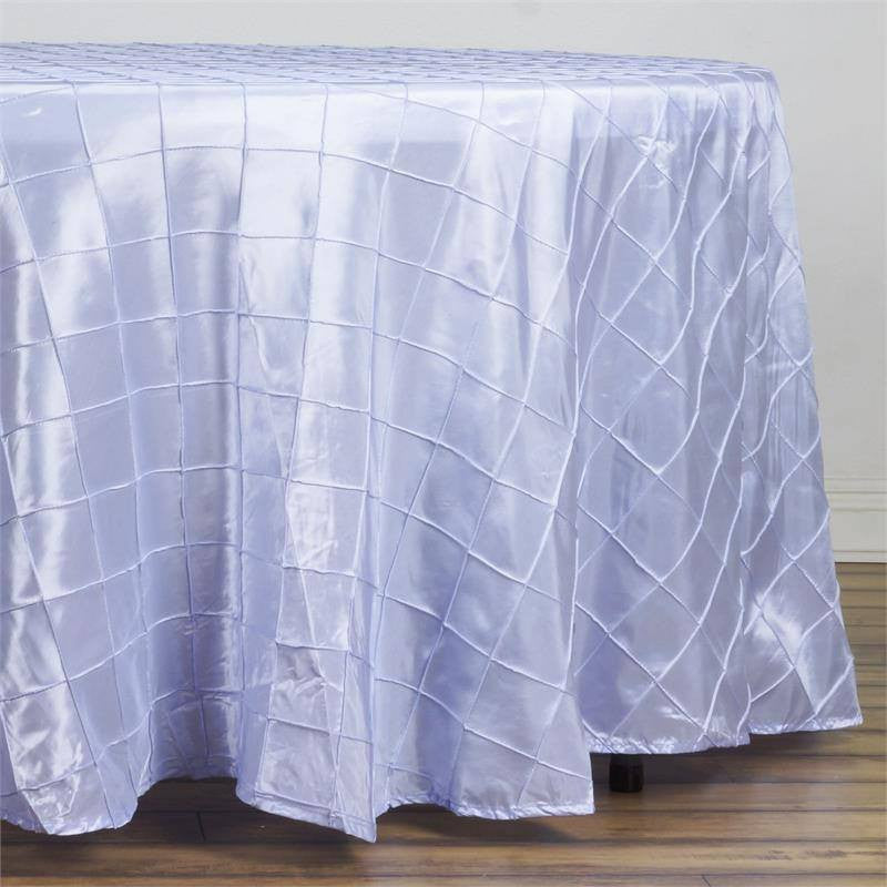 "Lavender Pintuck Tablecloths 108"" Round"
