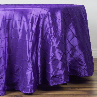 "Purple Pintuck Tablecloths 108"" Round"