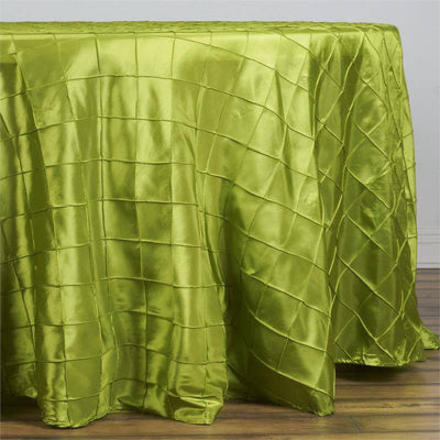 "Sage Green Pintuck Tablecloths 108"" Round"