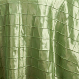 "Apple Green Pintuck Tablecloths 120"" Round"