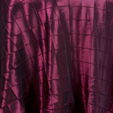 "Burgundy Pintuck Tablecloths 120"" Round"