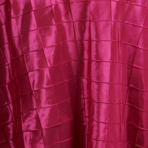 "Fushia Pintuck Tablecloths 120"" Round"