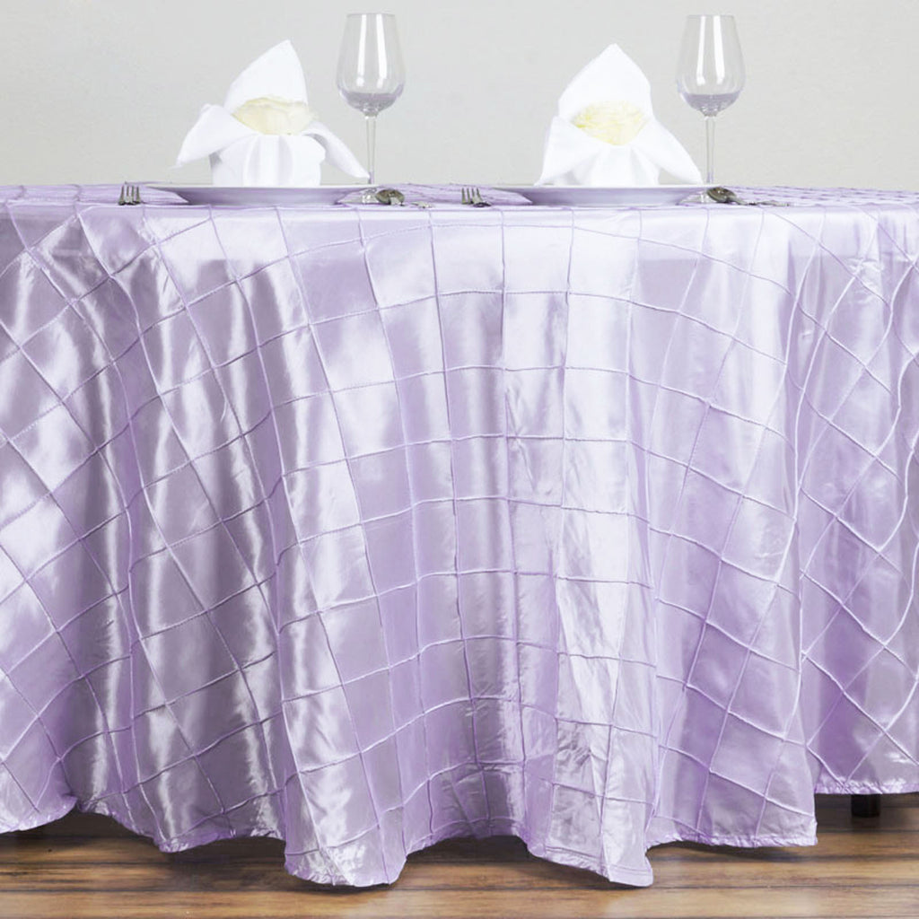 "Lavender Pintuck Tablecloths 120"" Round"