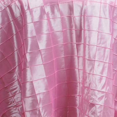 "Pink Pintuck Tablecloths 120"" Round"