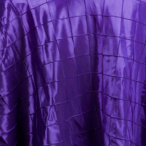 "Purple Pintuck Tablecloths 120"" Round"