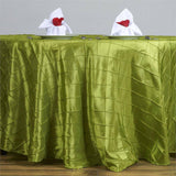 "Sage Green Pintuck Tablecloths 120"" Round"