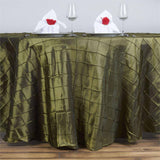 "Pintuck Tablecloths 120"" Round - Moss / Willow"