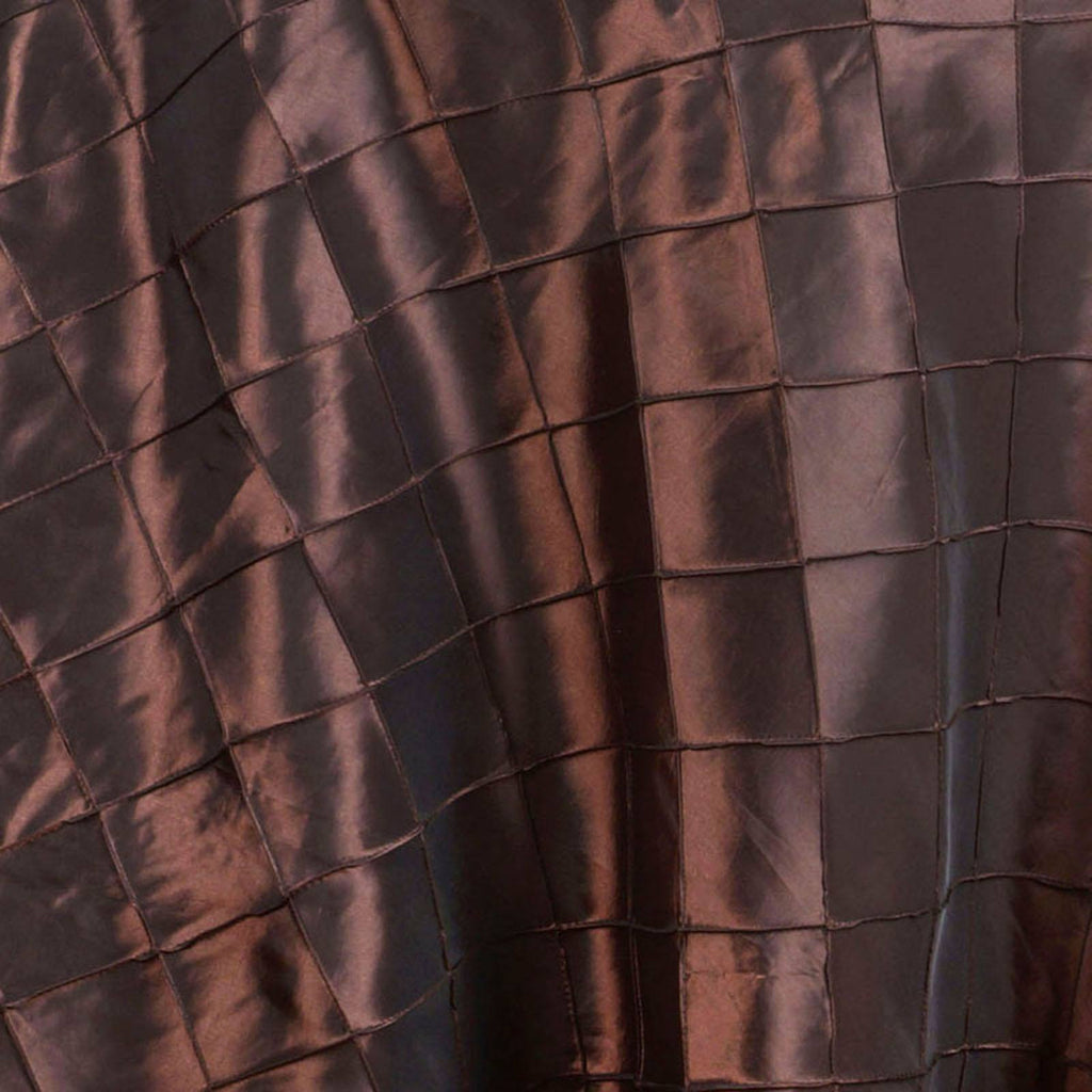 "Chocolate Pintuck Tablecloths 132"" Round"