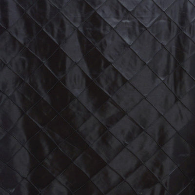 "Black 90x132"" Pintuck Tablecloths"