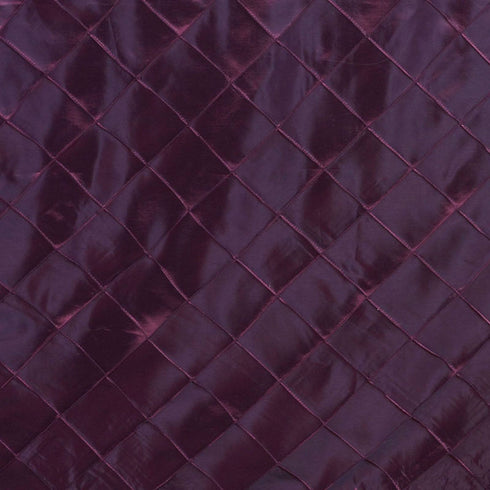 "Burgundy 90x132"" Pintuck Tablecloths"