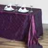 "90"" x 132"" Taffeta Pintuck Tablecloth - Burgundy"