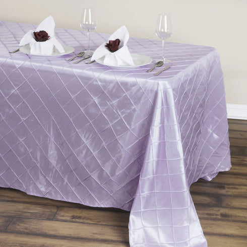 "90"" x 132"" Taffeta Pintuck Tablecloth - Lavender"
