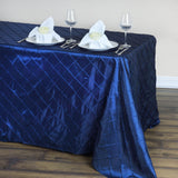 "Navy Blue 90x132"" Pintuck Tablecloths"