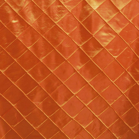 "Orange 90x132"" Pintuck Tablecloths"