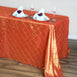 "90"" x 132"" Taffeta Pintuck Tablecloth - Orange"
