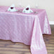 "90"" x 132"" Taffeta Pintuck Tablecloth - Pink"