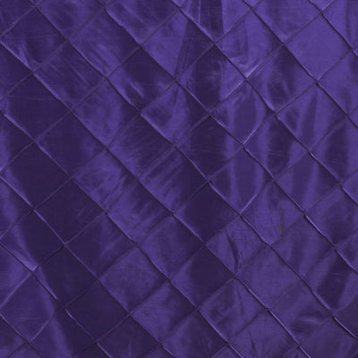"Purple 90x132"" Pintuck Tablecloths"