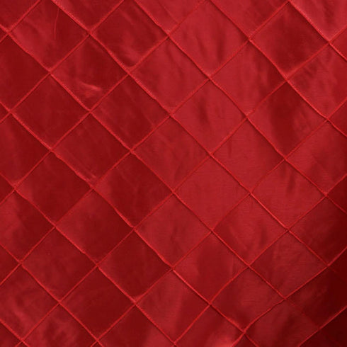 "Red 90x132"" Pintuck Tablecloths"