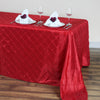 "90"" x 132"" Taffeta Pintuck Tablecloth - Red"