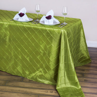 "90"" x 132"" Taffeta Pintuck Tablecloth - Sage Green"