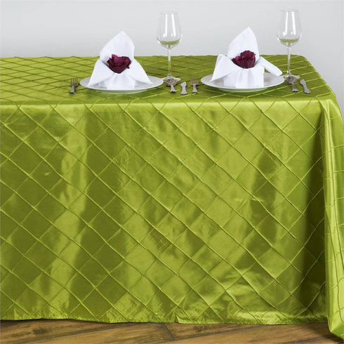 "Sage 90x132"" Pintuck Tablecloths"