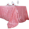"90"" x 156"" Rose Quartz Taffeta Pintuck Rectangular Tablecloth"