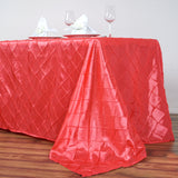 "Coral 90x156"" Pintuck Tablecloths"