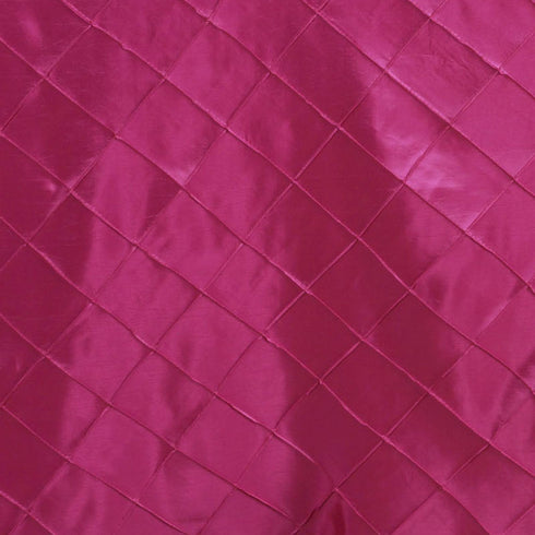 "Fushia 90x156"" Pintuck Tablecloths"